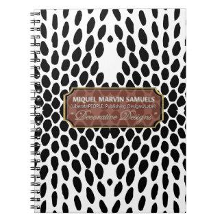 Reptile Decorative White Black Modern Notebook