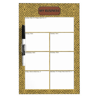 Reptile Gold Black Business Dry Erase Board