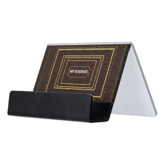 Reptile Gold Black My Business Card Holder
