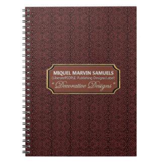 Reptile Pattern Maroon Black Modern Notebook