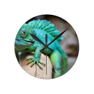 reptile round clock