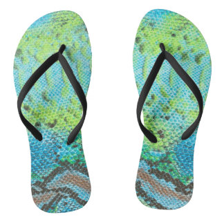 Reptile Skin Snake pattern Adult, Slim Straps Thongs
