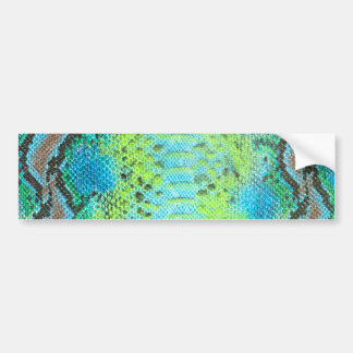 Reptile skin Snake pattern Bumper Sticker