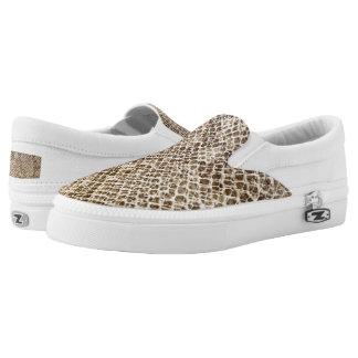 Reptile Skin Snake pattern Slip On Shoes