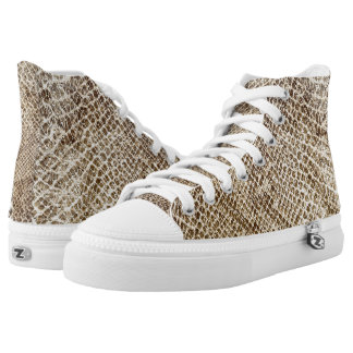 Reptile skin Snake pattern Zipz High Top Shoes