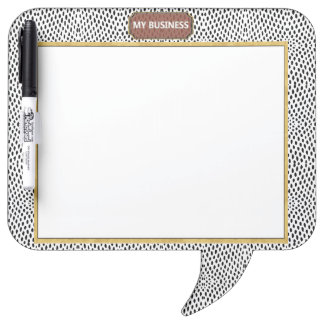 Reptile Speech Bubble Dry Erase Plain Black Board