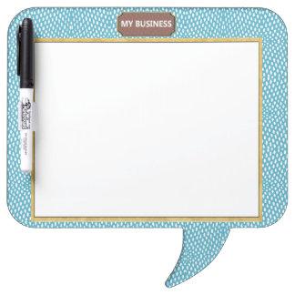 Reptile Speech Bubble Dry Erase Plain Blue Board