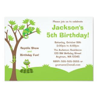 Reptile Tree Birthday Party 11 Cm X 16 Cm Invitation Card