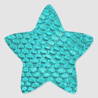 Reptile Turquoise Blue Star Sticker