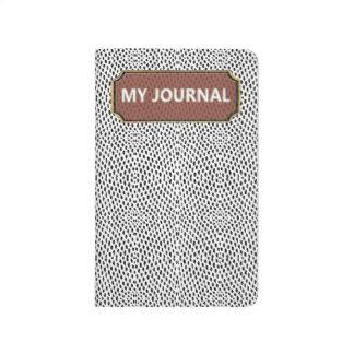 Reptile White Black My Journal Pocket Journal