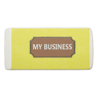 Reptile Yellow My Business Eraser