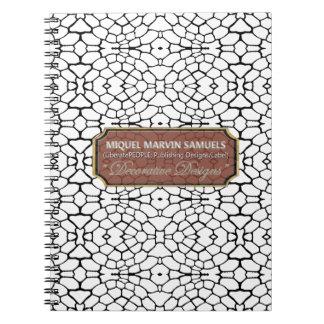 Reptiles Decorative Black White Modern Notebook