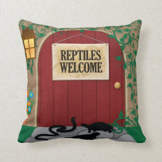 Reptiles Welcome Cushion