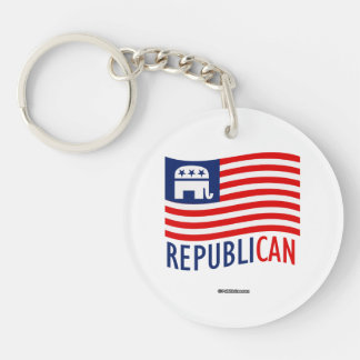 REPUBLI-CAN Double-Sided ROUND ACRYLIC KEY RING