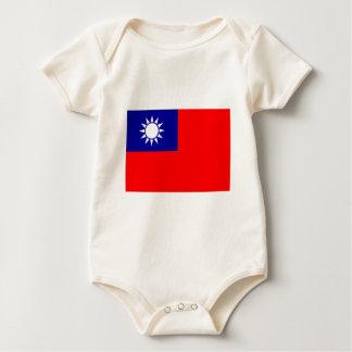 Republic Of China Flag Baby Bodysuit
