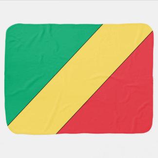 Republic of Congo Flag Receiving Blanket