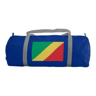 Republic of Congo Flag Gym Duffel Bag