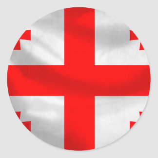 Republic of Georgia Flag Classic Round Sticker