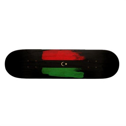 Republic of Libya Flag Custom Skate Board