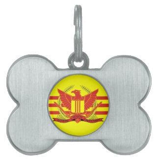Republic of South Vietnam Military Forces Flag Pet ID Tag