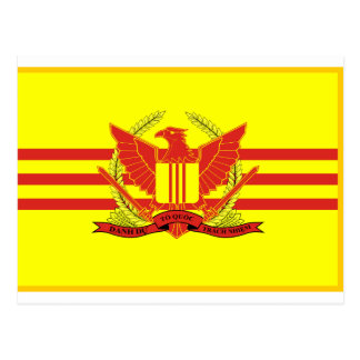 Republic of South Vietnam Military Forces Flag Postcard