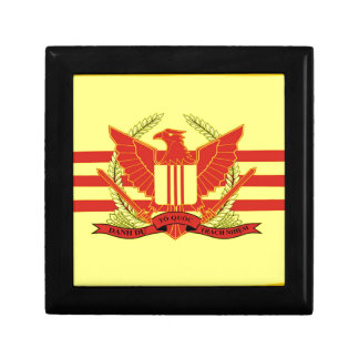 Republic of South Vietnam Military Forces Flag Small Square Gift Box