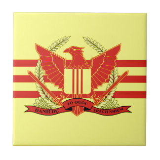 Republic of South Vietnam Military Forces Flag Small Square Tile