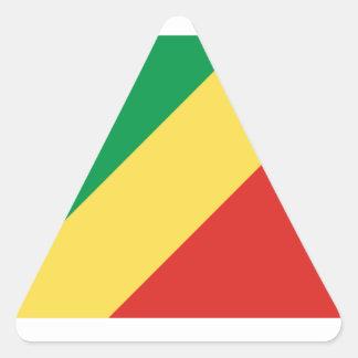 Republic Of The Congo Flag Triangle Sticker