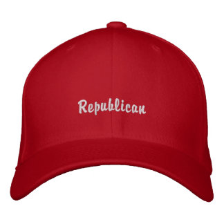 Republic party supporters followers embroidered baseball caps