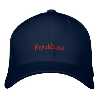 Republic party supporters followers embroidered hats