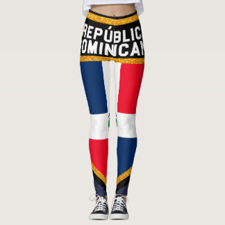 República Dominicana Flag Leggings