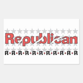 Republican Abstract Rectangular Sticker
