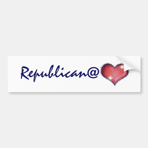 Republican at heart bumper stickers