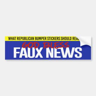 Republican Bumper Sticker - God Bless Faux News -
