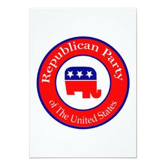 Republican Campaign 13 Cm X 18 Cm Invitation Card