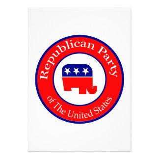 Republican Campaign Personalized Announcement