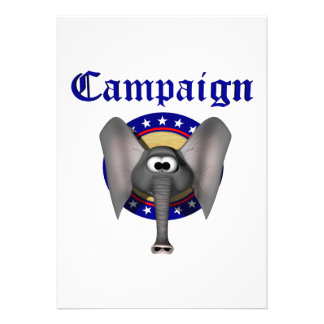Republican Campaign Custom Invitations