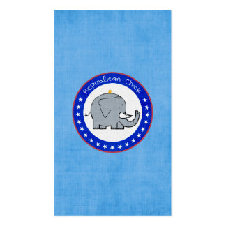 republican chick business cards