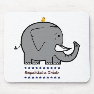 republican chick mousepad