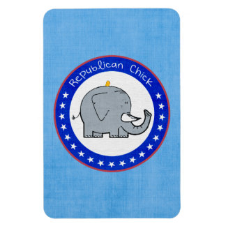 republican chick rectangular photo magnet