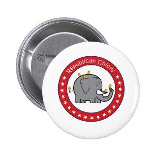 republican chicks 6 cm round badge
