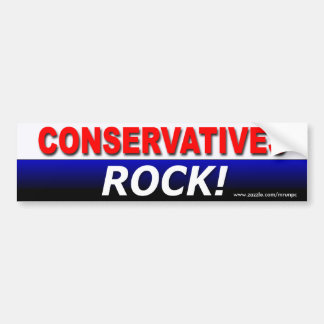 "Republican ""Conservatives Rock!"" bumper sticker"