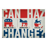 Republican, Democrat, LolCat Poster