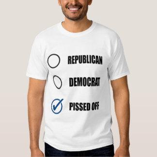 REPUBLICAN DEMOCRAT PISSED OFF TSHIRT