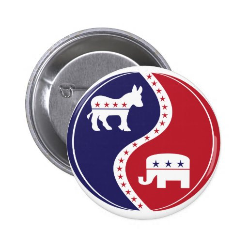 Republican  Democrats Working Together Button