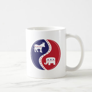Republican  Democrats Working Together Basic White Mug