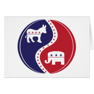 Republican  Democrats Working Together Greeting Card