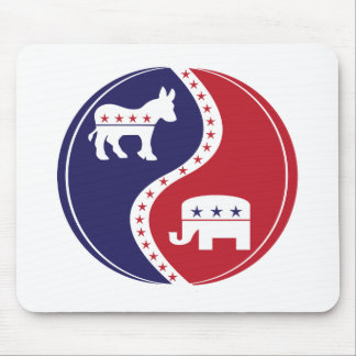 Republican  Democrats Working Together Mouse Pad