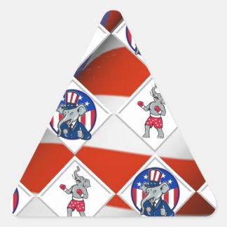 Republican Elephant Champion Triangle Sticker