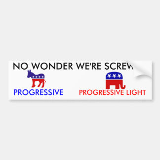 Republican_elephant, Democratic-donkey, NO WOND... Bumper Sticker